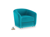 Tootsie Armchair in Pacific Clever Velvet