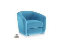 Tootsie Armchair in Teal Blue plush velvet