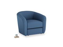 Tootsie Armchair in True blue Clever Linen
