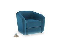 Tootsie Armchair in Twilight blue Clever Deep Velvet