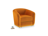 Tootsie Armchair in Spiced Orange clever velvet