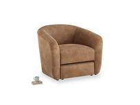 Tootsie Armchair in Walnut beaten leather