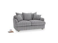 Small Smooch Sofa in Brittany Blue french stripe