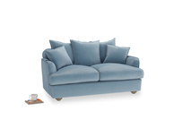 Small Smooch Sofa in Chalky blue vintage velvet