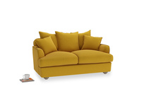 Small Smooch Sofa in Yellow Ochre Vintage Linen