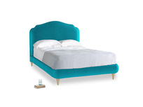 Double Sugar Puff Bed in Pacific Clever Velvet
