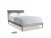 Double Darcy Bed in Thyme Green Vintage Linen