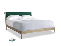 Superking Darcy Bed in Cypress Green Vintage Linen