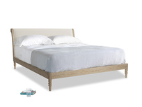 Superking Darcy Bed in Chalky White Clever Softie