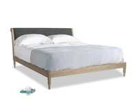 Superking Darcy Bed in Pencil Grey Clever Laundered Linen