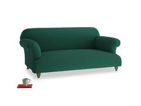 Medium Soufflé Sofa in Cypress Green Vintage Linen