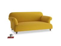 Medium Soufflé Sofa in Yellow Ochre Vintage Linen