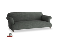Large Soufflé Sofa in Pencil Grey Clever Laundered Linen