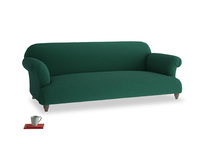 Large Soufflé Sofa in Cypress Green Vintage Linen