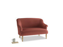 Small Sweetie Sofa in Dusty Cinnamon Clever Velvet