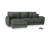 Large left hand Easy Squeeze Chaise Sofa in Pencil Grey Clever Laundered Linen