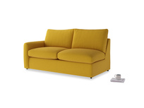 Chatnap Sofa Bed in Yellow Ochre Vintage Linen with a left arm