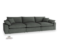 Large Cuddlemuffin Modular sofa in Pencil Grey Clever Laundered Linen