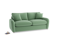Medium Easy Squeeze Sofa Bed in Thyme Green Vintage Linen