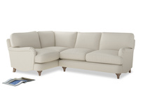 Large Left Hand Jonesy Corner Sofa in Chalky White Clever Softie