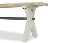 Scoff Handmade Kitchen Bench Cross Leg Detail