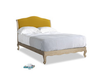 Double Coco Bed in Yellow Ochre Vintage Linen