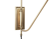 Yard Arm Adjustable Brass Wall Light Wall Mount Detail