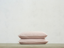 Everyday Linen Pillowcase in Pink Putty x2