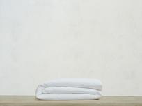Superking Everyday Linen Duvet Cover in White