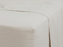 Double Everyday Linen Fitted Sheet in Stone Grey