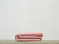 Superking Tumbled Cotton Duvet Cover in Old Rose