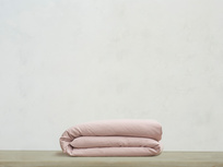 Superking Tumbled Cotton Duvet Cover in Pink Putty