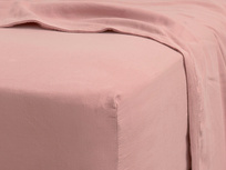 Superking Tumbled Cotton Fitted Sheet in Old Rose