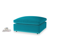 Cuddlemuffin Footstool in Pacific Clever Velvet