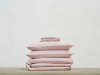 Lazy Cotton super soft pure cotton Bed sheets bundle in Pink Putty