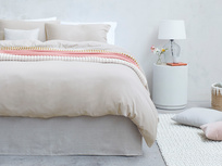 Lazy Cotton super soft pure cotton Bed sheets in Stone Grey