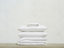 395224 lazy linen 100 percent linen breathable bed sheets bundle in white