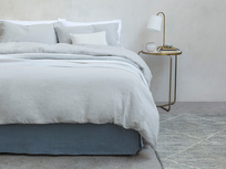 Everyday Linen bed linen in Sky Grey