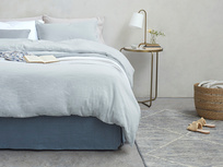 Everyday Linen bed linen range - Pink Putty, White and Sky Grey