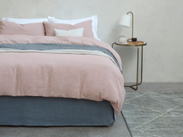 Everyday Linen bed linen in Pink Putty