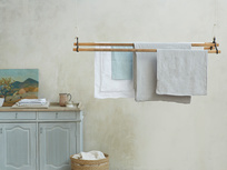 Lazy linen on hanging clothes rail range