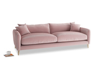 Large Squishmeister Sofa in Chalky Pink vintage velvet