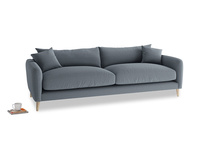 Large Squishmeister Sofa in Blue Storm washed cotton linen