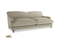 Large Pudding Sofa in Jute Vintage Linen