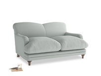 Small Pudding Sofa in French blue brushed cotton