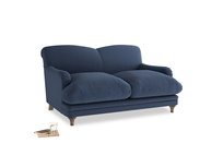Small Pudding Sofa in Navy blue brushed cotton