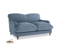 Small Pudding Sofa in Nordic blue brushed cotton