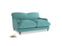 Small Pudding Sofa in Peacock brushed cotton