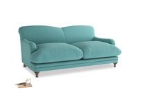 Medium Pudding Sofa in Peacock brushed cotton