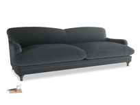 Extra large Pudding Sofa in Dark grey Clever Deep Velvet